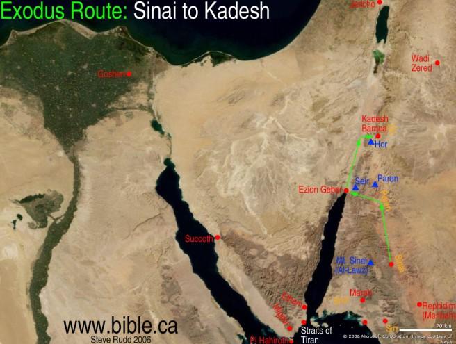 maps-bible-archeology-exodus-route-overview-sinai-kadesh-barnea