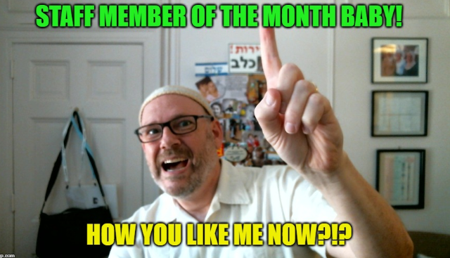 employee of the month yeah baby